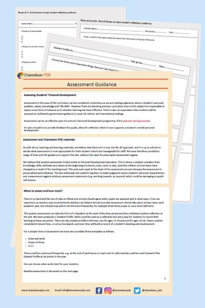 Guidance documents : Assessment guidance & proformas
