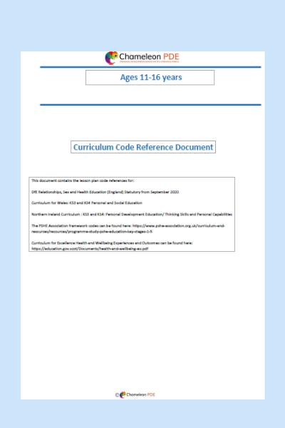 Guidance document: Curriculum codes
