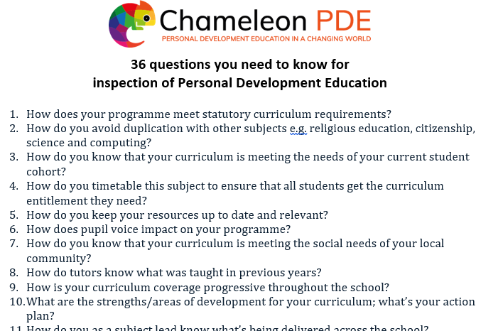 Guidance document: 36 Inspection Questions